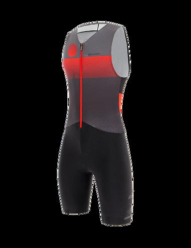 Santini Ironman AUDAX TRISUIT SLEEVELESS RED - Triatlonos egyberuha ujjatlan