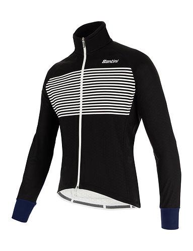 Santini colore jacket - Kerékpáros téli kabát fekete