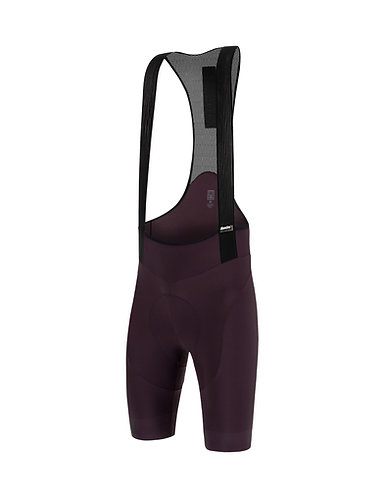 Santini TONO PURO - Kerékpáros kantáros nadrág bordó