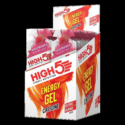 High5 Energy Gel Caffeine Málna 20x40g