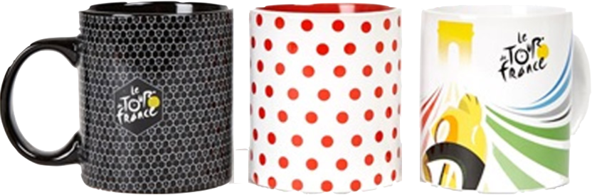 Tour de france 2017 set 3 ceramic mug - kerámia bögre szett