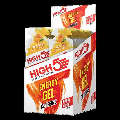 High5 Energy Gel Caffeine Narancs 20x40g