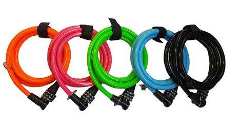 Onguard Neon számzáras spirál kábel, 150 cm x 8 mm 8194 lakat Zöld