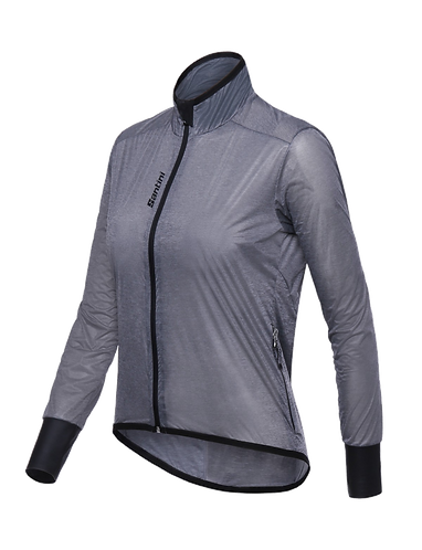 Santini Scudo Wind Jacket Women Grey - Női Kerékpáros Szélálló Kabát