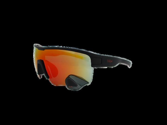 TriEye Sport REVO (red) - Napszemüveg integrált tükörrel
