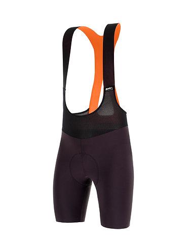 Santini REDUX FORTUNA - Kerékpáros kantáros nadrág bordó