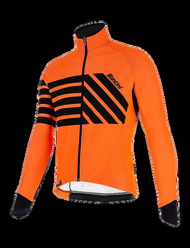 Santini SVOLTA - JACKET ORANGE - Kerékpáros kabát
