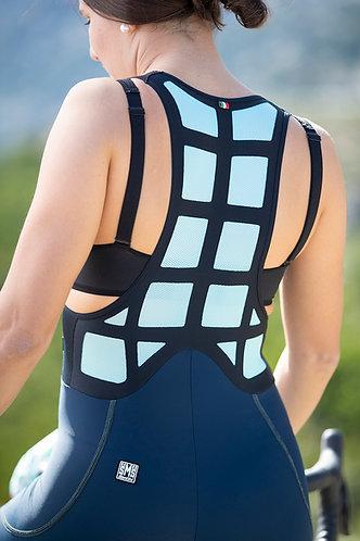 Santini SLEEK GRIDO - Női kerékpáros kantáros nadrág kék