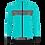 Thumbnail: Santini GUARD MERCURIO - JACKET AQUA for women - Kerékpáros Női Téli kabát