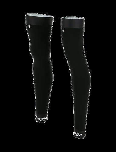 Santini MID - LEG - WARMERS BLACK - Kerékpáros lábmelegítő