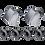 Thumbnail: absoluteBLACK bolt&covers SH6800-9000 Grey - lánctányér csavar&takaró