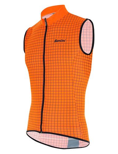 Santini Nebula vest - Kerékpáros mellény narancs-fekete