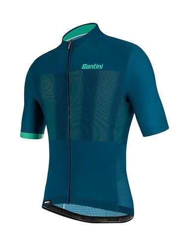 Santini TONO FLUSSO - Kerékpáros mez zöld