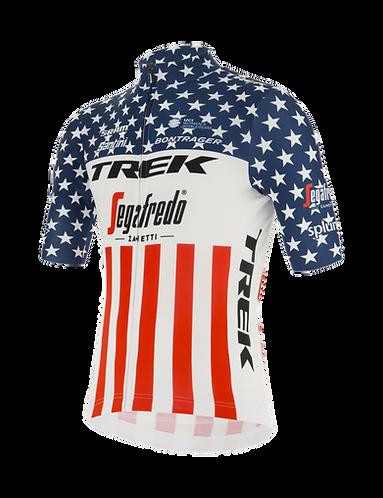 Santini TREK-SEGAFREDO 2020 - US NATIONAL CHAMPION JERSEY - Női kerékpáros mez