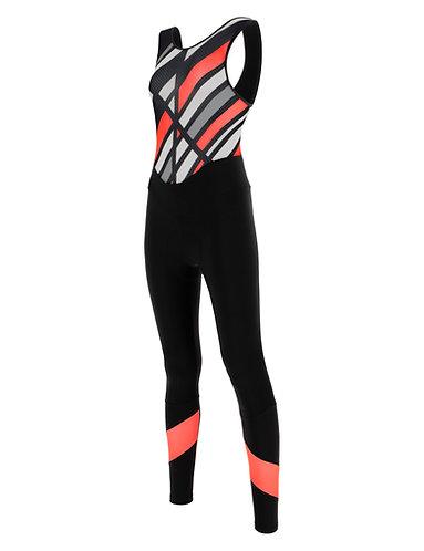 Santini coral raggio bib-tights - Női Kerékpáros kantáros nadrág gránátalma