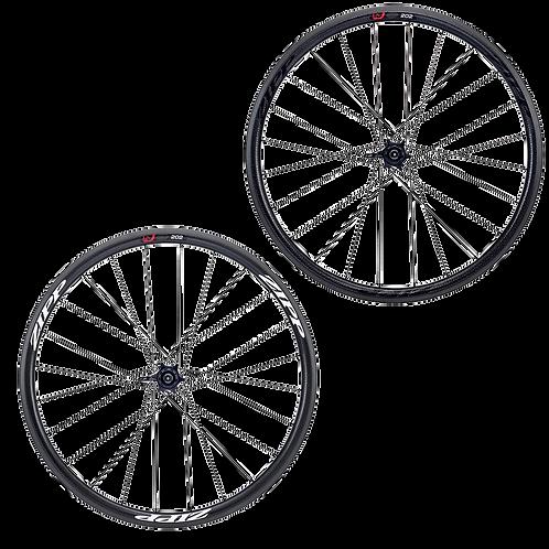 Zipp 202 firecrest carbon clincher rear wheel - Hátsó kerék, peremes