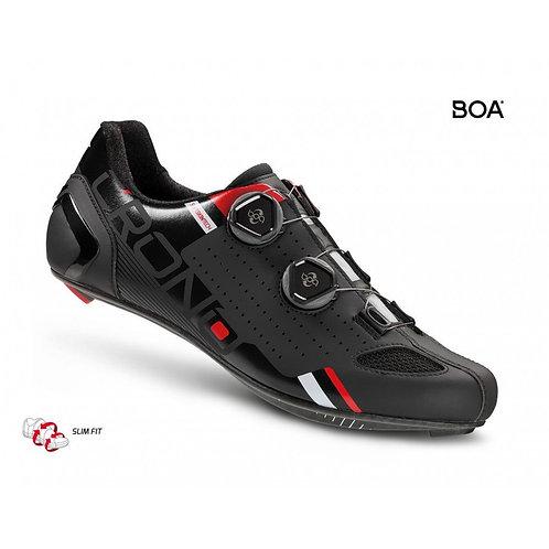 Crono Cr2 Országúti Kerékpáros Cipő Kompozit Talppal fekete