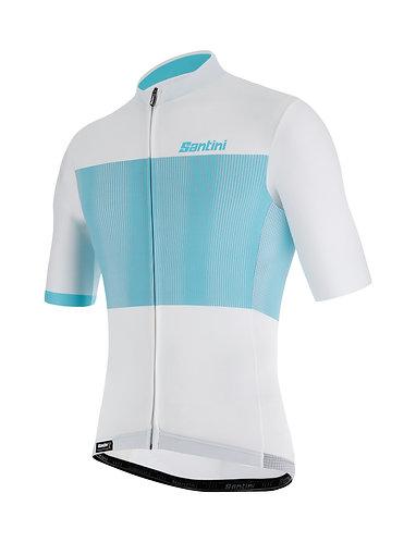 Santini TONO FLUSSO - Kerékpáros mez fehér