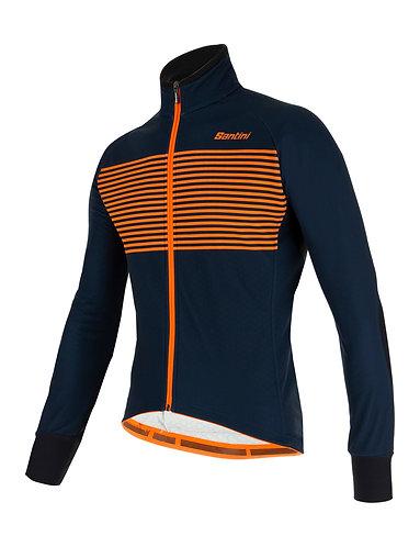 Santini colore jacket - Kerékpáros téli kabát Kék