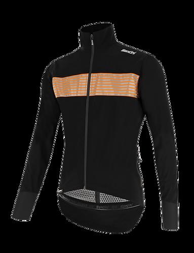 Santini GUARD MERCURIO - JACKET BLACK - Kerékpáros kabát.