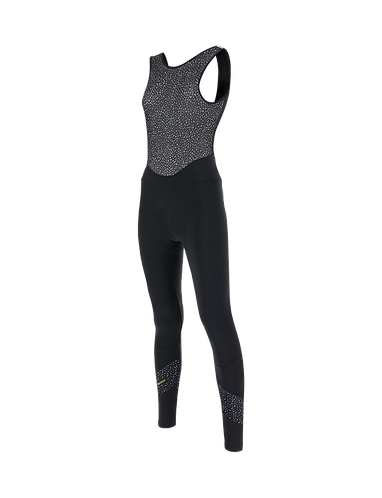 Santini CORAL - BIB TIGHTS BLACK for women - Kerékpáros Női téli nadrág