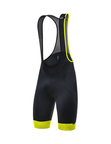 Santini SCATTO - BIB SHORTS YELLOW - Kantáros nadrág