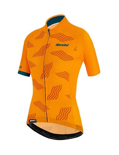 Santini TONO DUNE - Női kerékpáros mez sárga