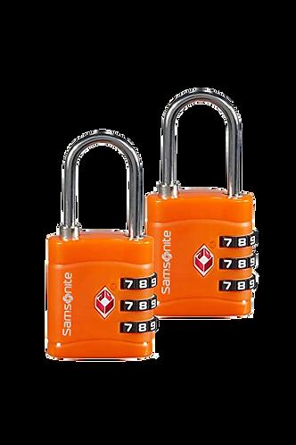 Samsonite GTA Three Dial TSA SET Orange - Samsonite számzáras lakat szett