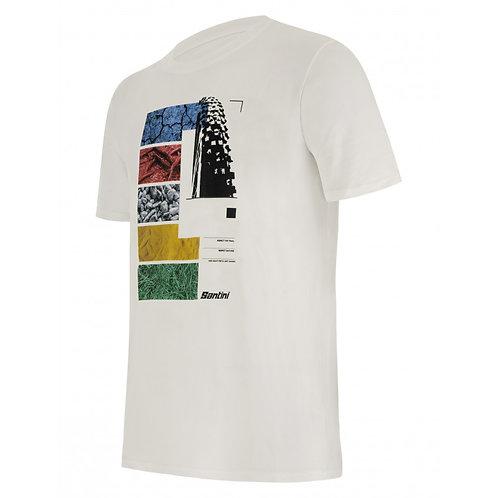 SANTINI UCI MTB - T-SHIRT White - Póló