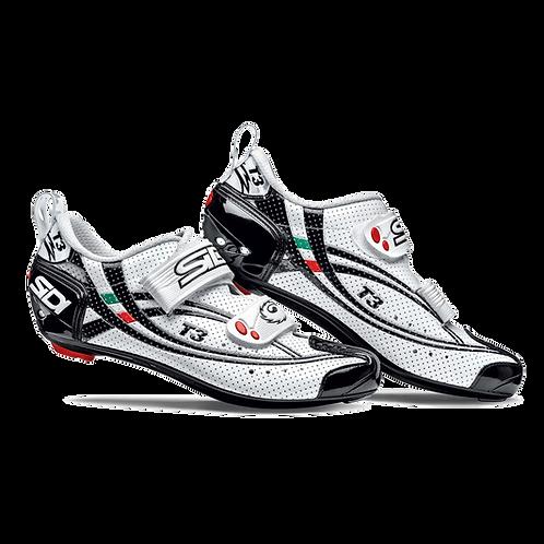 Sidi T-3 Air Carbon comp tri shoes Black - White / cipő