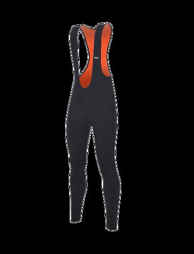 Santini Lava Thermal Bib Tights Orange - Kerékpáros kantáros nadrág