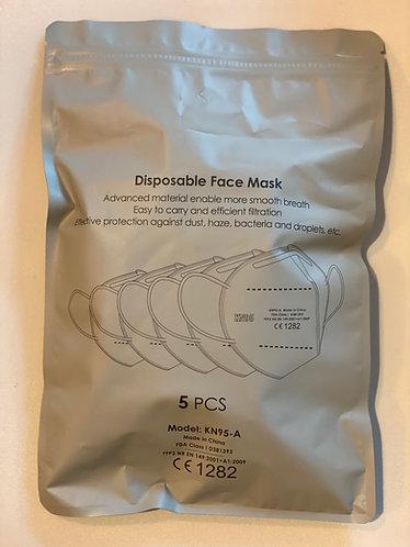 Fujian KN95-A/FF2  FDA/EN/CE minősítésű 4 rétegű arcmaszk