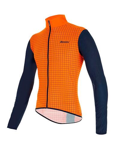 Santini Nebula jacket - Kerékpáros kabát narancs
