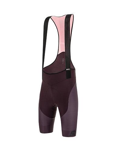 Santini TONO STUDIO - Kerékpáros kantáros nadrág bordó