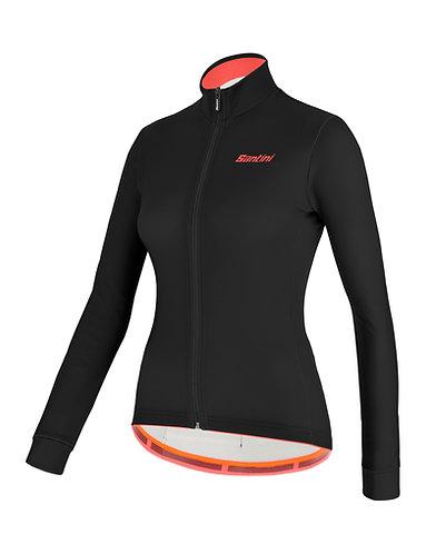 Santini colore jersey Women - Női Kerékpáros felső fekete