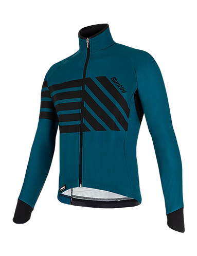 Santini SVOLTA - JACKET PETROLEUM - Kerékpáros kabát