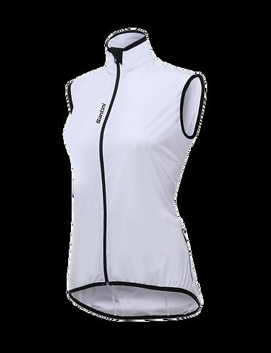 Santini Scudo Wind Vest Women White - Női Kerékpáros Szélálló mellény