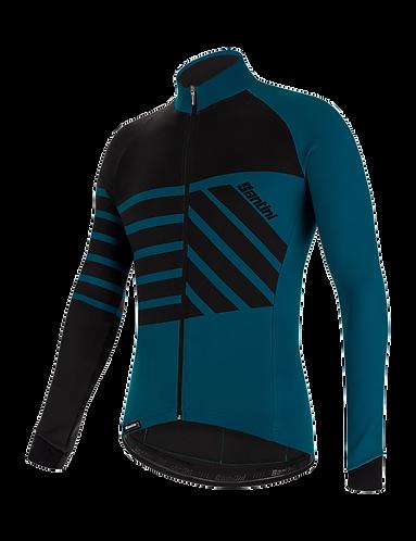 Santini SVOLTA - THERMAL JERSEY PETROLEUM - Kerékpáros pulcsi
