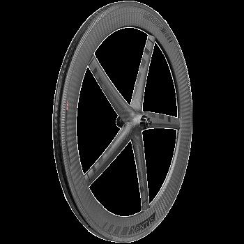 Xentis Mark3 matt Black tria monocoque rim brake Front wheel - Első kerék