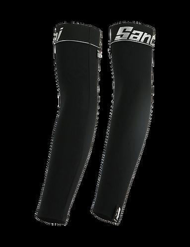 Santini NUHOT - ARM-WARMERS BLACK - Kerékpáros karmelegítő