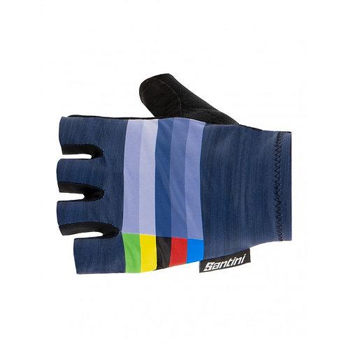 Santini UCI summer gloves Navy Blue - UCI Kerékpáros kesztyű sötétkék