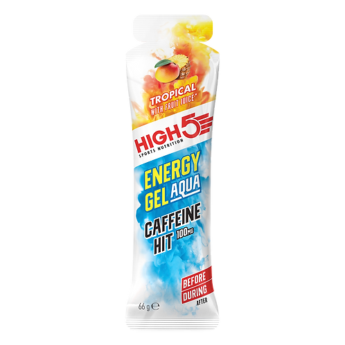 High5 Energy Gel Aqua Caffeine HIT Tropical 66g (100mg koffein)