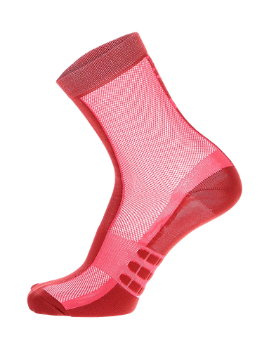 Santini CLASSE - SOCKS MEDIUM PROFILE RED - Kerékpáros közép profilú zokni