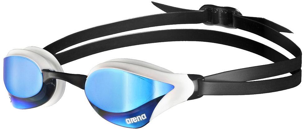 Arena cobra swipe mirror kék / fehér verseny úszószemüveg