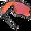 Thumbnail: OAKLEY Jawbreaker Matte Black / PRIZM Trail Torch lens - Sportszemüveg