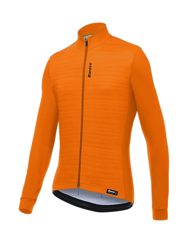 Santini CLASSE - THERMAL JERSEY FLASHY ORANGE - Kerékpáros pulcsi