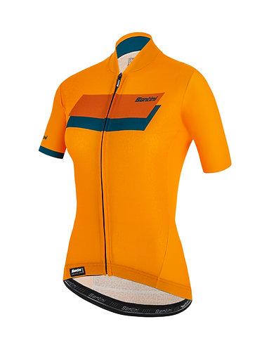 Santini KARMA SASSI - JERSEY - Női kerékpáros mez sárga