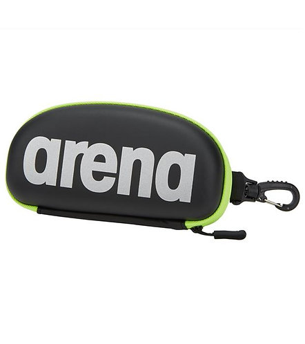 Arena goggle case FEKETE / EZÜST / FLUO SÁRGA úszószemüveg-tok