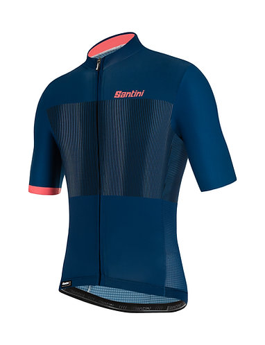 Santini TONO FLUSSO - Kerékpáros mez kék