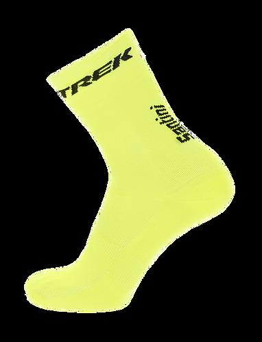 Santini TREK-SEGAFREDO 2020 - SOCKS YELLOW FLUO - Kerékpáros zokni